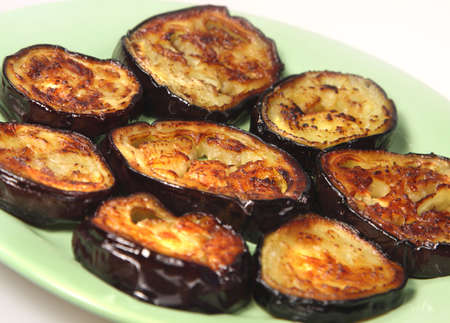dietetic:  Appetizing dietetic food - roasted aubergines Stock Photo
