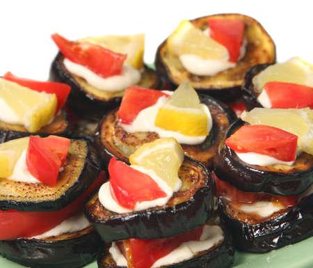 dietetic: Appetizing dietetic food - snack of aubergine