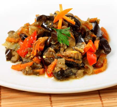 ragout:  Vegetable ragout with eggplants ( aubergine ) Stock Photo