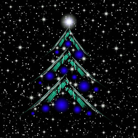 Christmas tree. Illustration for celebratory design illustration