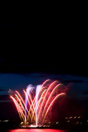salvoes: Celebratory  firework in night sky
