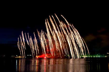 salvoes: Celebratory original firework in night sky