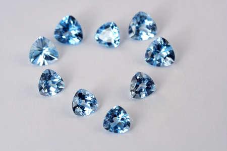 Luxury gems on white background photo