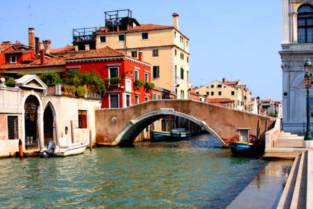 Italy. Venice. Grand and small canals and architecture photo