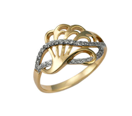 brilliants: Golden jewelry ring with  brilliants
