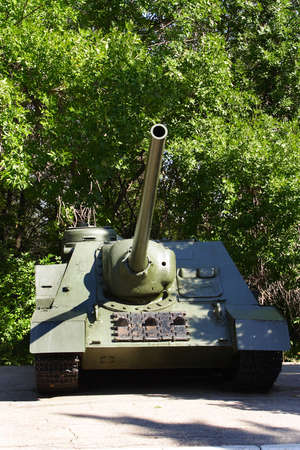 Soviet tank - the weapon of times of the 2 world war in park of the Victory photo