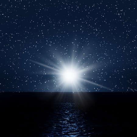 Imagen de la noche con el mar y el cielo  Foto de archivo - 6934786