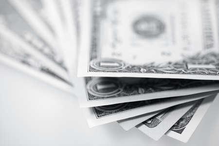 wartości: Dolarów amerykańskich pieniędzy. Paczki z banku notatek   Zdjęcie Seryjne