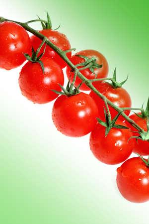 tomato cherry: Vegetable tomato cherry on a white background Stock Photo