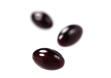 antioxidant: Medical  tablets (  antioxidant )  isolated over white background