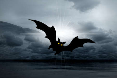 Halloween abstract picture with bats Stock Photo - 7984418