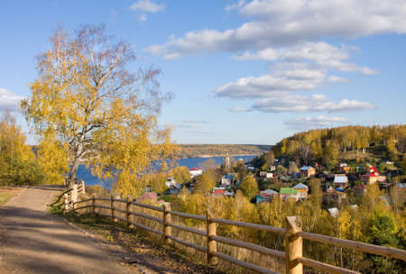 Autumn beautiful scenery - nature in Ivanoskya area - Ples town Stock Photo - 8029529