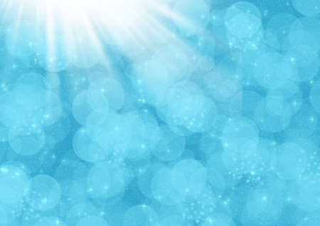 Magic light, Abstraction blue background for card and other design artworks photo