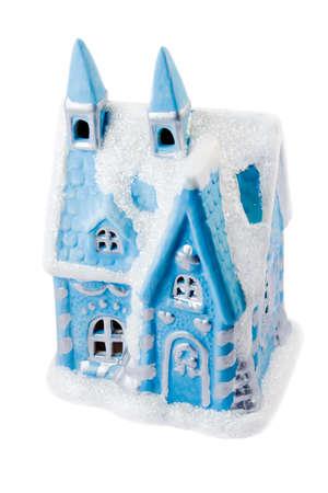 Christmas decorations -  toys house , isolated on white background Stock Photo - 8370389