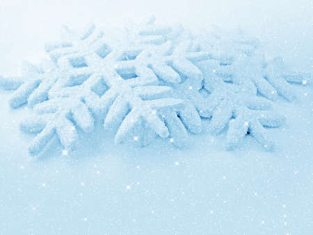 Christmas decorations -  toys snowflakes on blue background  photo