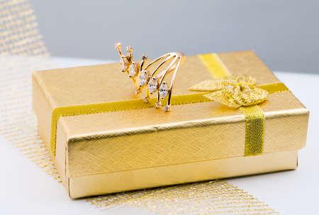 textille: Elegant female jewelry ring with jewel stone