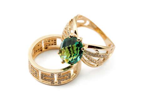jewelle: Elegant female jewelry two rings with jewel stone