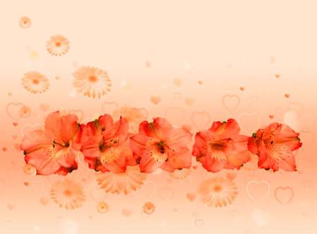 Elegant celebratory background with love  for Valentine card photo