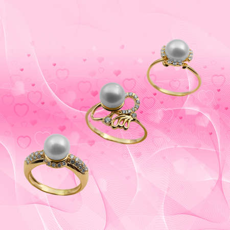 Elegant female jewelry ring with jewel stone  Stock Photo - 8637032