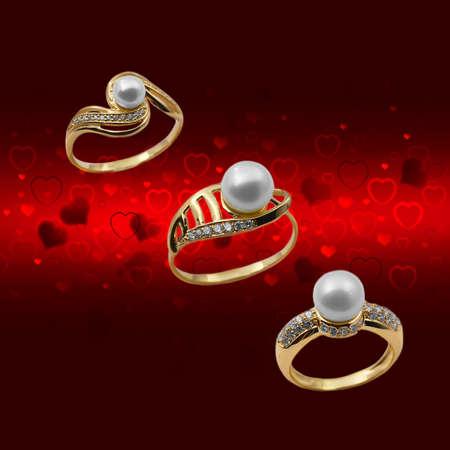Elegant female jewelry ring with jewel stone  Stock Photo - 8637007