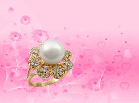 Elegant female jewelry ring with jewel stone  Stock Photo - 8637050