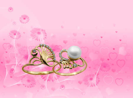Elegant female jewelry ring with jewel stone  Stock Photo - 8637018