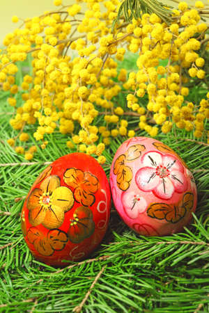 Easter painting eggs on natural background Stock Photo - 8756112