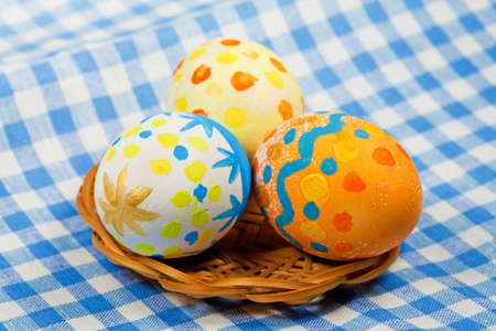 Easter painting eggs with decoratons for holiday Stock Photo - 8756111