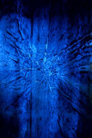 Old grunge dark blue texture for your design artworks, natural background photo
