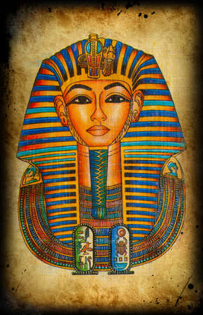 ancient egypt: Egyptian natural  papyrus   Stock Photo