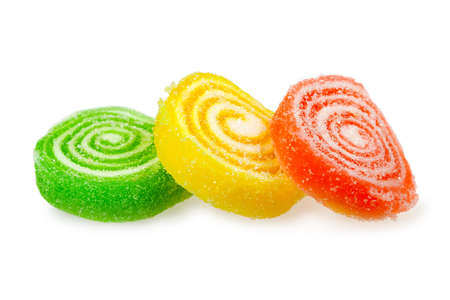 Sweet color candy isolated over white background Stock Photo - 9069167