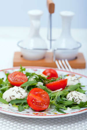 foodie: Food - plate with italian salad on a table