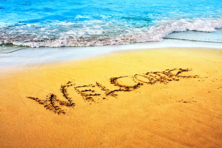 Landscape, beach on a Crete, the Greek island, Welcome! photo