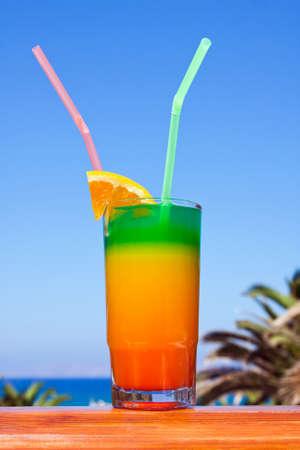 Beach on a Crete, the Greek island, drinks