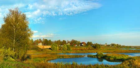 soli: Beautiful nature, panoramic scenery. Small Rivers of Russia, Yaroslavl area, malye soli