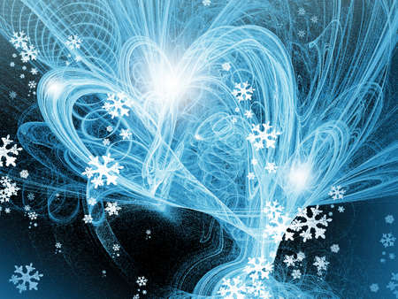 Blue christmas abstract background for various  design artworks, cards Stock Photo - 11049107