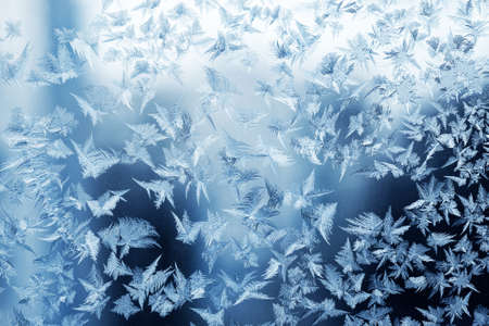 Frosty pattern at a winter window glass