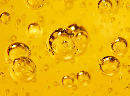 liquid material: Air bubbles in a glass, natural taxture Stock Photo