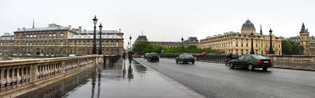 The bridge in Paris, France. Panoramic scenery photo