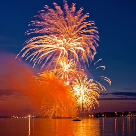firework in a night sky