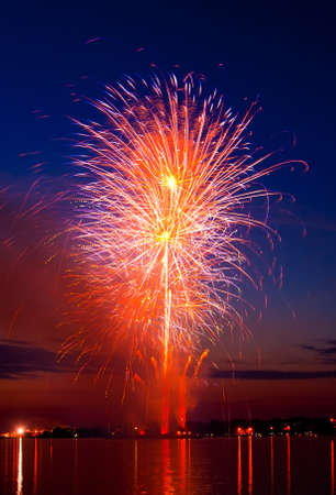 firework in a night sky  photo