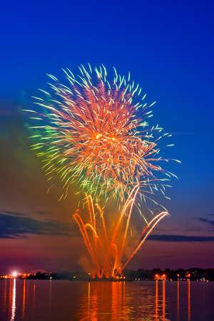 firework in a night sky Stock Photo - 11218821