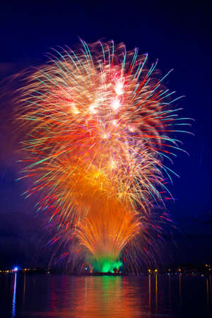 firework in a night sky Stock Photo - 11218805