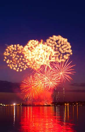 firework in a night sky  photo