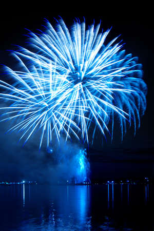 firework in a night sky Stock Photo - 11218802