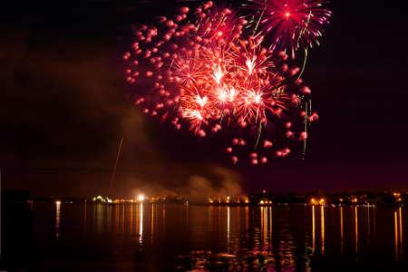 firework in a night sky Stock Photo - 11218850