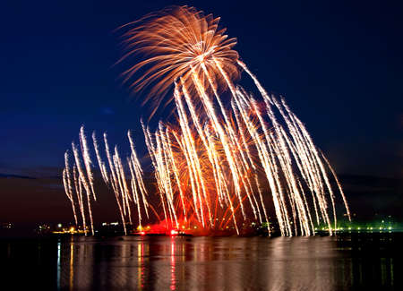 salvoes: Vibrant beautiful firework on the holiday day