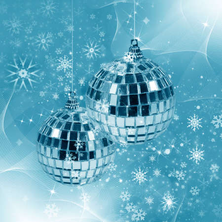 Abstract illustration background with  with christmas decor - glass balls Stock Illustration - 11386553