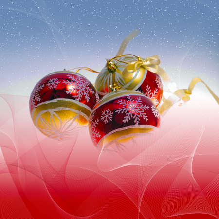 Abstract illustration background with  with christmas decor - glass balls illustration