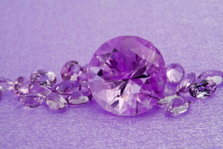 textille: Elegant jewelry gems - jewel stone amethyst Stock Photo